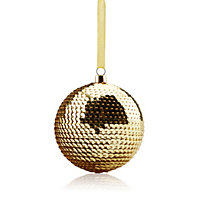 Shiny Gold effect Sequin Baubles