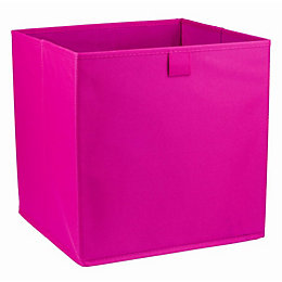 Mixxit Pink Non woven fabric & polyester Storage