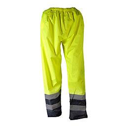 "Tradesman Yellow Waterproof trousers W26.8 L30"""