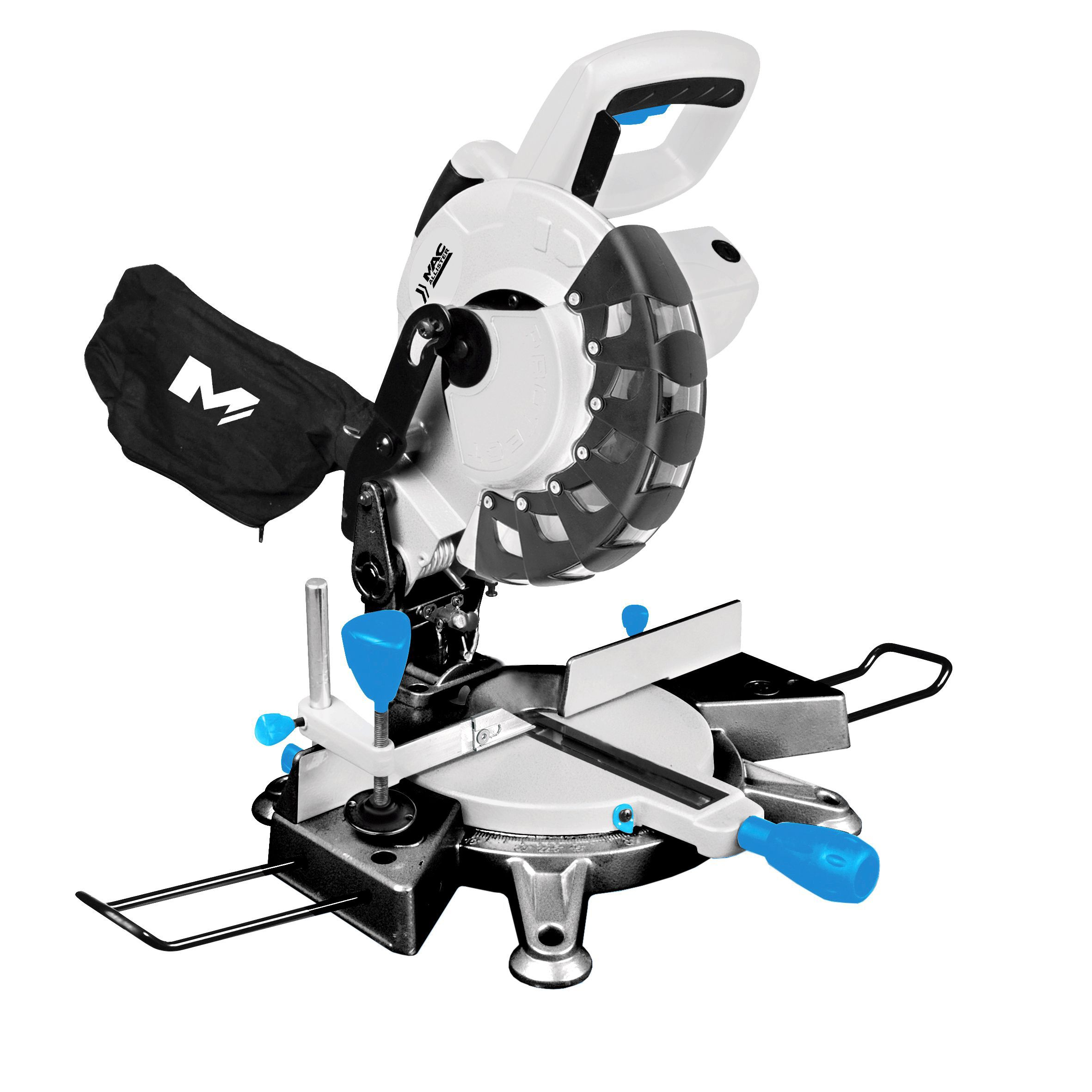 Mac Allister 1700w 230v 210mm Compound Mitre Saw Mmsp1700l Departments Diy At B Q