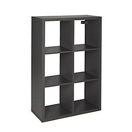 Form Mixxit Grey 6 Cube Shelving Unit (H)1080mm