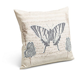 Butterfly Wording Cream Cushion