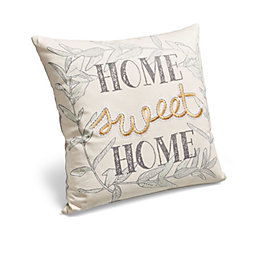 Home Sweet Home Cream & Grey Cushion