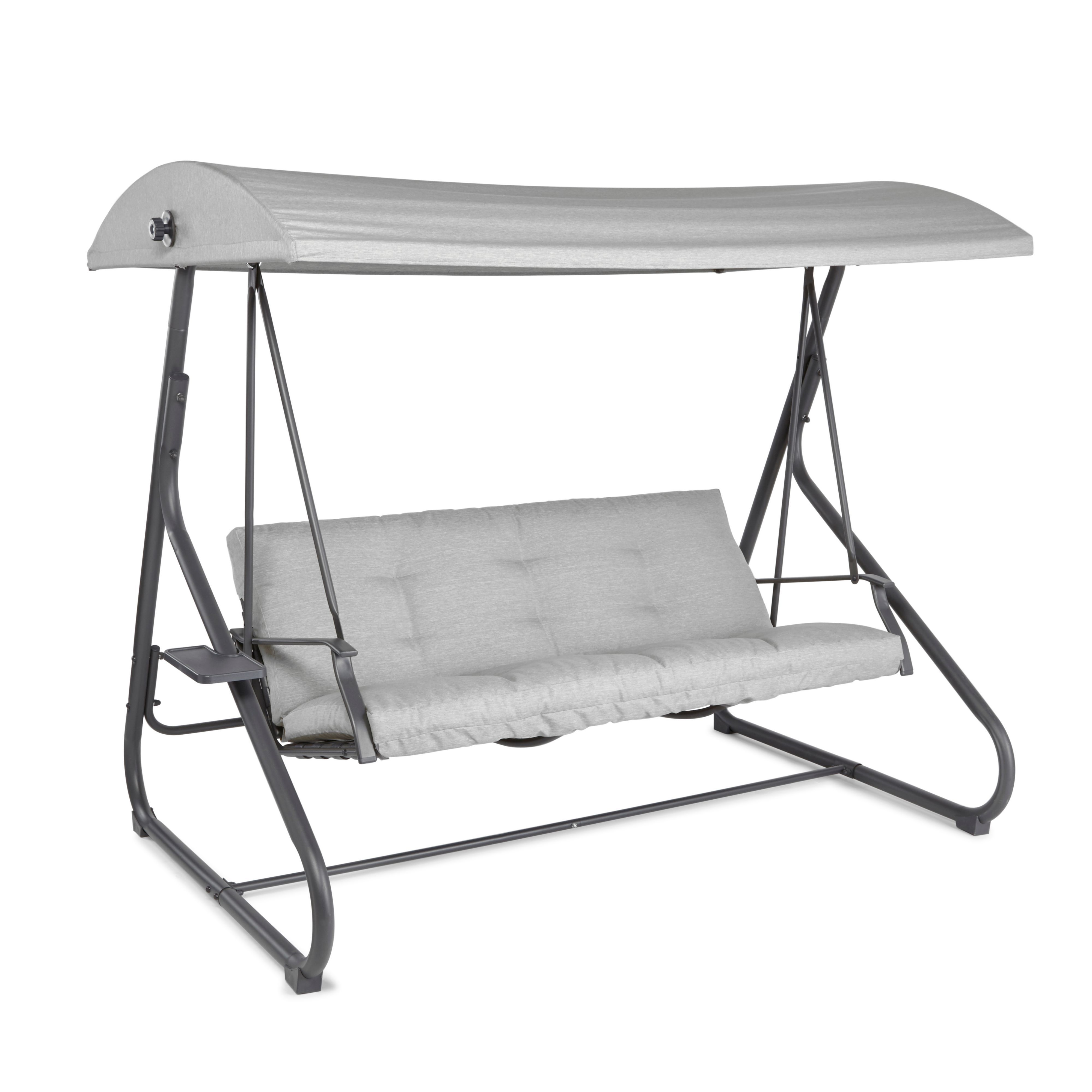 cranbrook steel swing bench   departments   diy at b u0026q  rh   diy