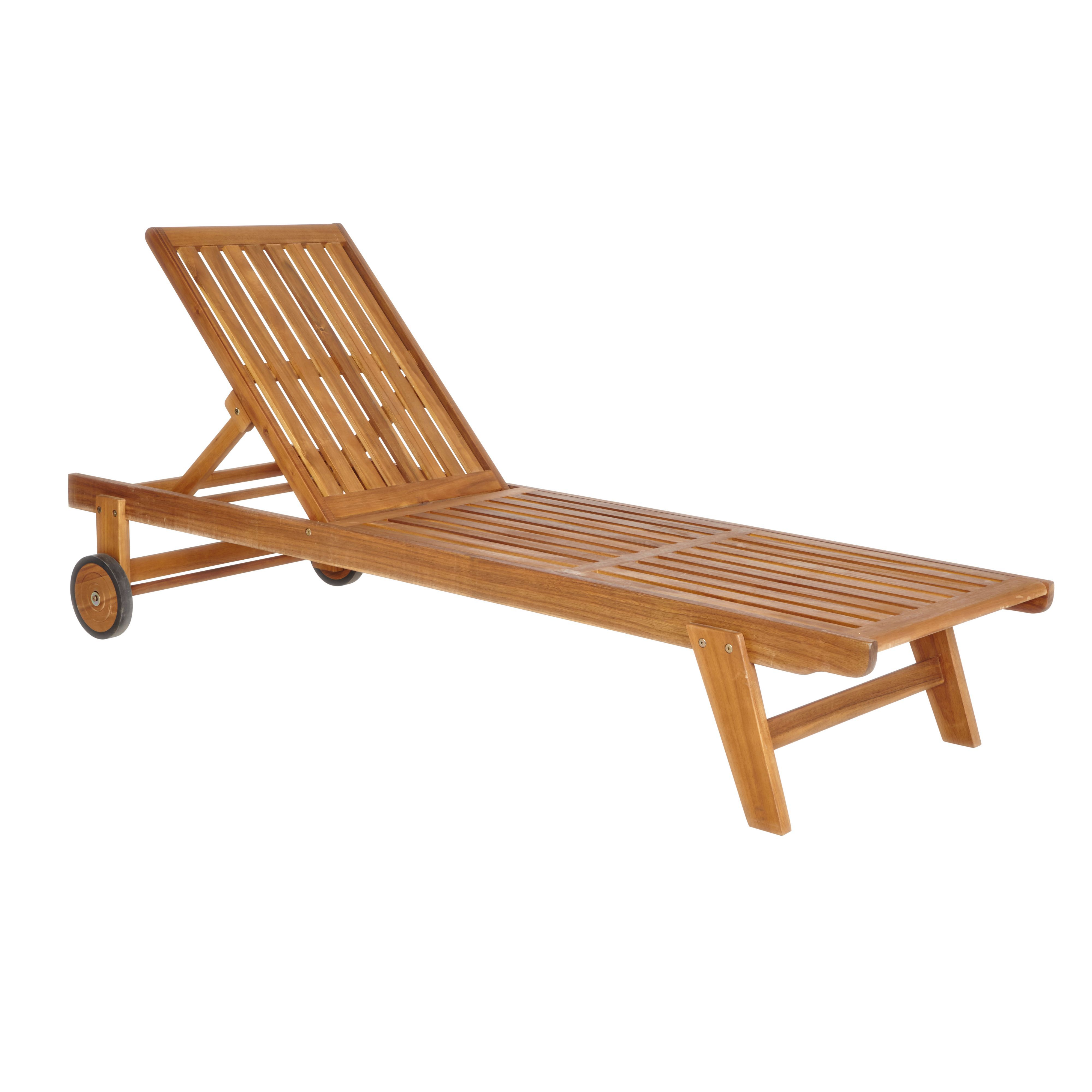 victoria wooden sunlounger departments diy at b q. Black Bedroom Furniture Sets. Home Design Ideas