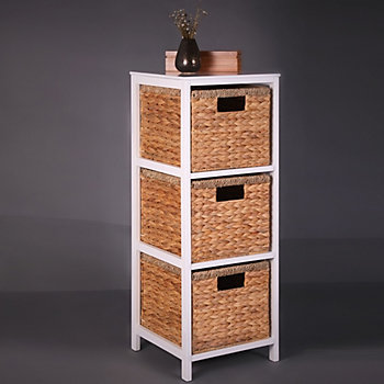 Natural tower drawer unit