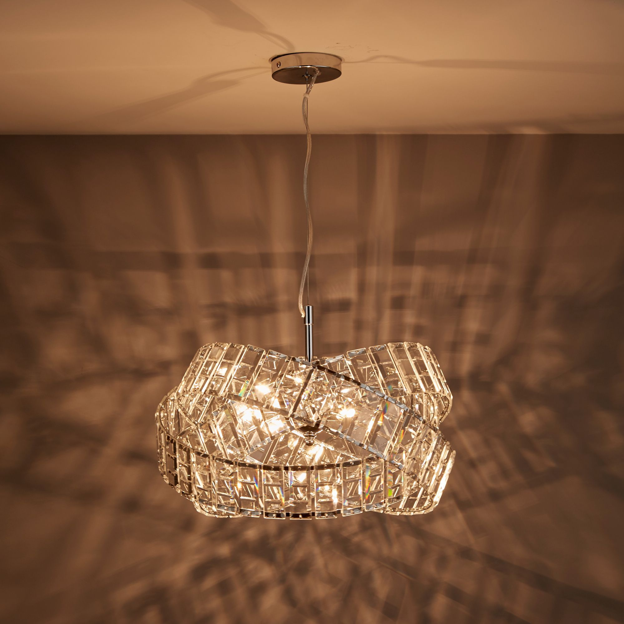 Sagitta Chrome effect 3 Lamp Pendant Ceiling light | Departments | DIY at  B&Q