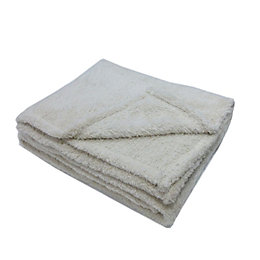 Katya Cream Fleece Throw