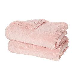 Katya Pink Fleece Throw