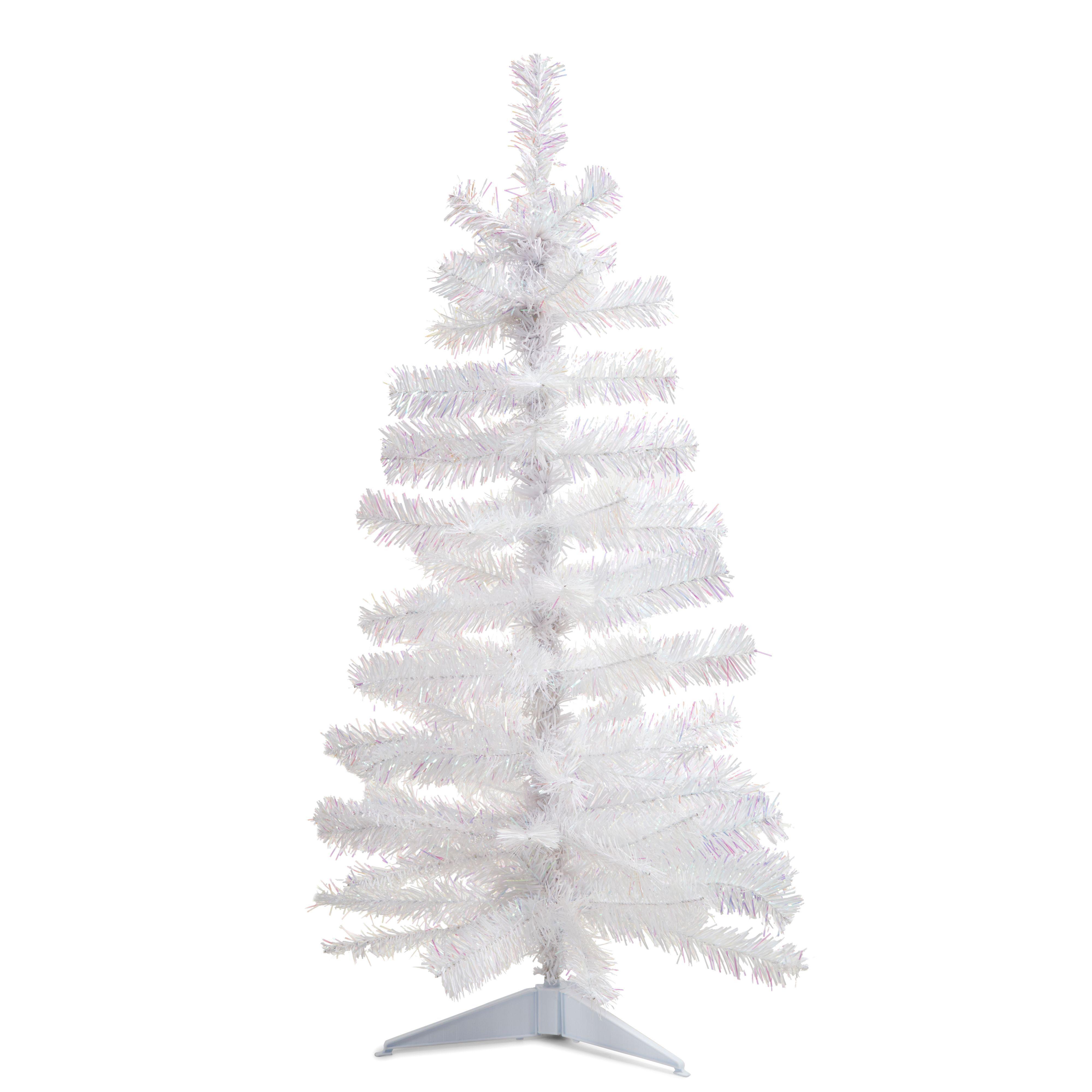 3ft White Christmas Tree.3ft White White Christmas Tree Departments Diy At B Q