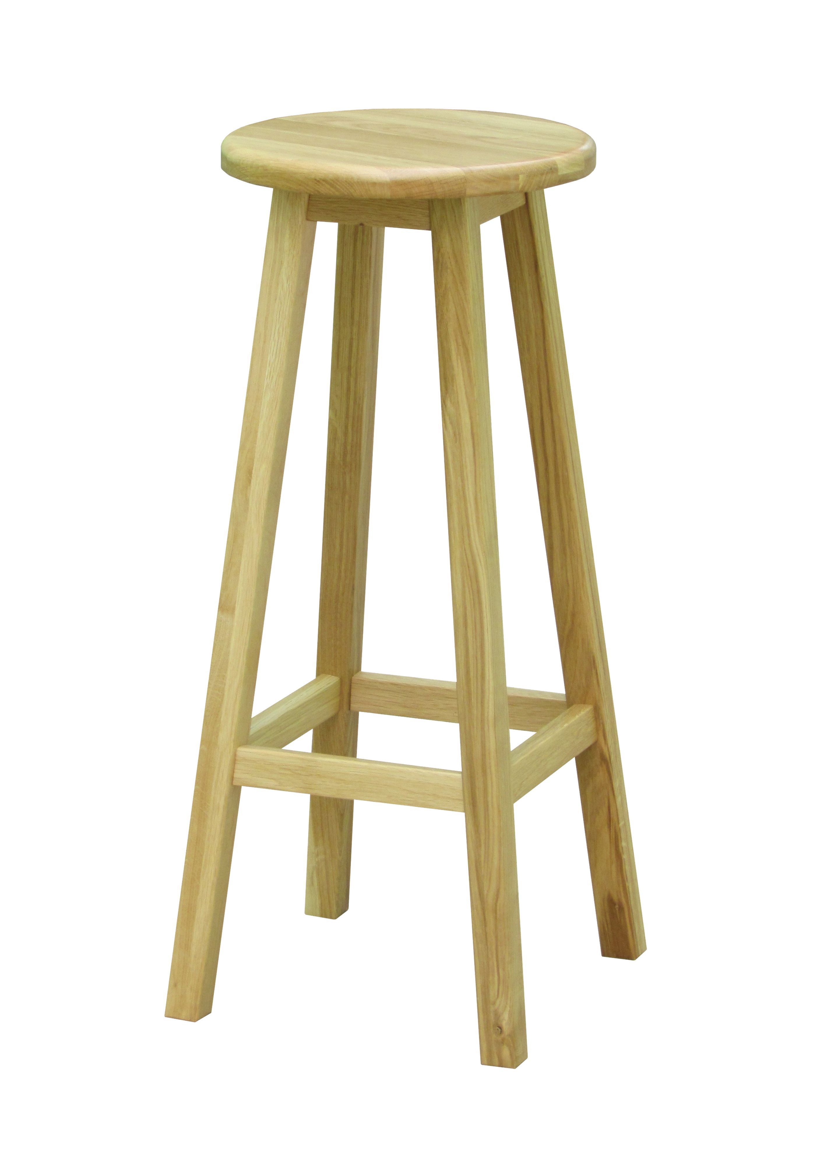 Highworth Oak Effect Bar Stool (H)770Mm (W)330Mm - Departments -