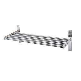Hastings Silver Effect Tube Shelf (L)610mm (D)220mm Of