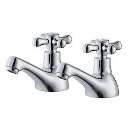 Plumbsure Azure Chrome finish Hot & cold bath