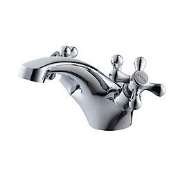 Plumbsure Azure 2 Lever Basin mixer tap