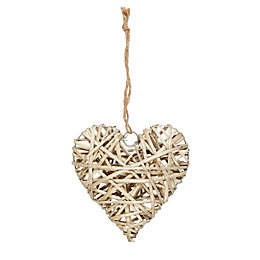 Heart Wicker Ornament