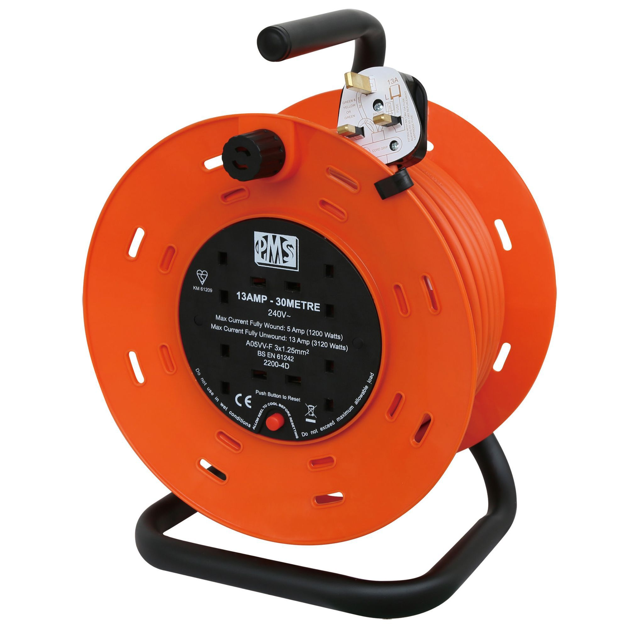 Pms 4 Socket 13a Cable Reel L 30m Departments Diy At B Amp Q