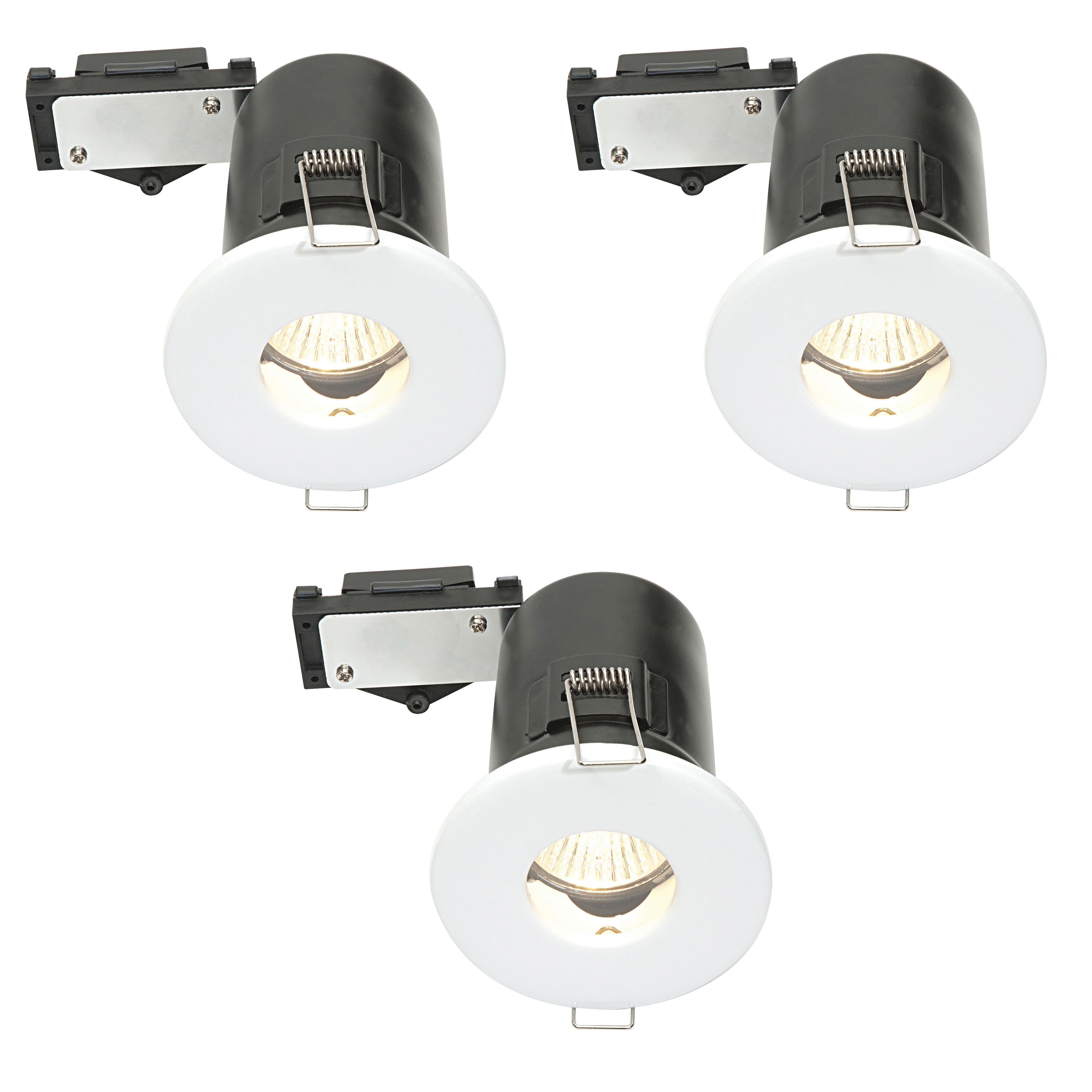 Diall White Gloss LED Fixed Downlight 3.5 W IP65, Pack Of