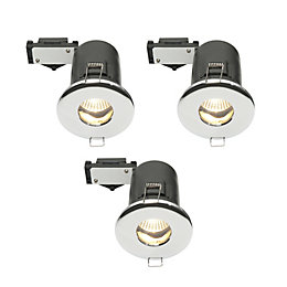 Diall Chrome Effect LED Fixed Downlight 3.5 W