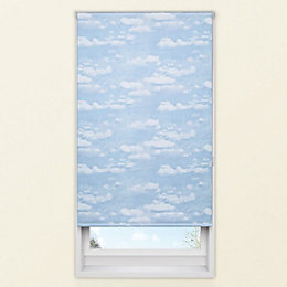 Colours Adalene Corded Blue Blackout Roller Blind (L)160