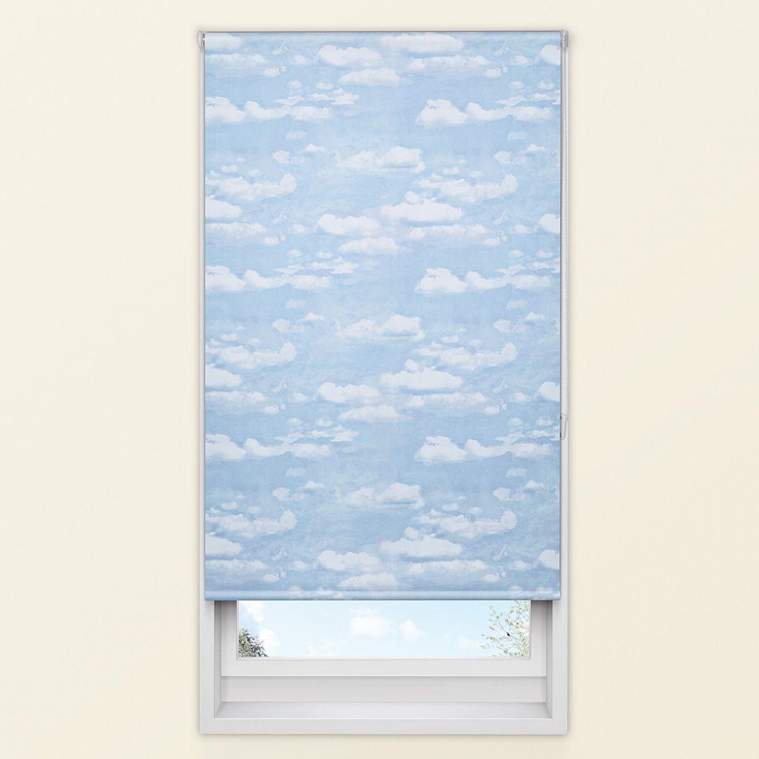 colours adalene corded blue blackout roller blind l 160. Black Bedroom Furniture Sets. Home Design Ideas