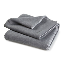 Cyrena Grey Plain Fleece Throw