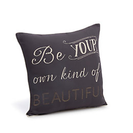 Clea Beautiful' Grey & Cream Cushion