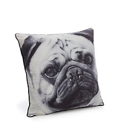 Danita Pug Black Cushion