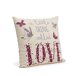 Darnesha Love' Cream & Purple Cushion