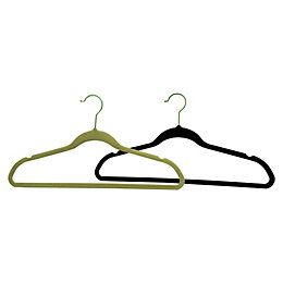 B&Q Flocked Clothes Hangers, Pack of 6