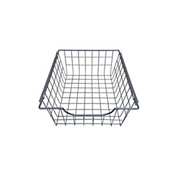 Perkin Silver Sliding Wire Storage Basket (W)375mm