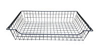 Perkin Silver effect Iron Sliding wire storage basket