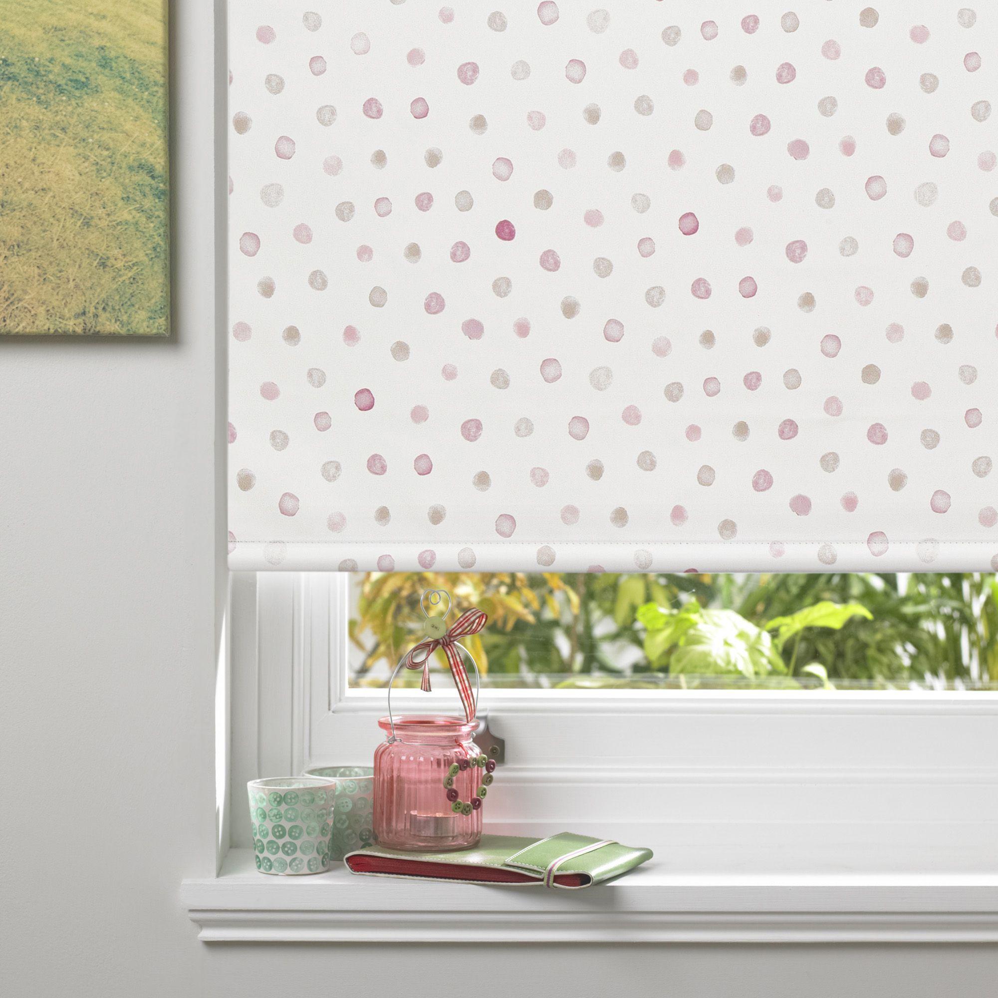 colours alisse corded pink blackout roller blind l 160 cm. Black Bedroom Furniture Sets. Home Design Ideas