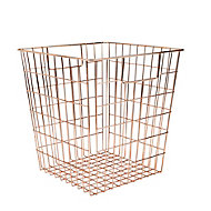 Mixxit Copper effect Metal Storage basket