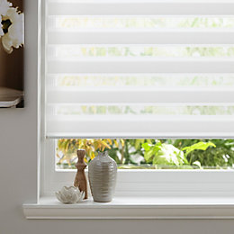 Colours Day & Night Corded White Roller Blind