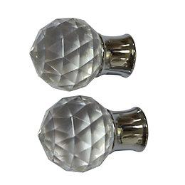 Colours Flete Chrome Effect Ball Finial (L)75mm (Dia)28mm,