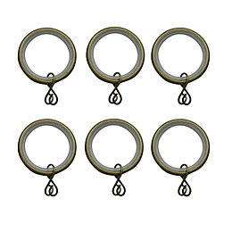 Antique Brass Effect Metal Round Curtain Ring (Dia)19mm,