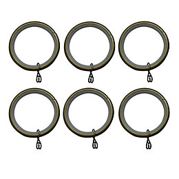 Antique Brass Effect Metal Round Curtain Ring (Dia)28mm,