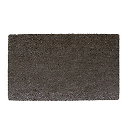 Diall Grey Plain Printed Coir Door Mat (L)750mm