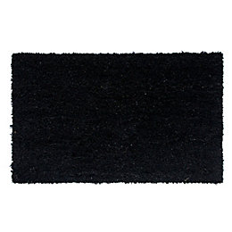 Diall Black Plain Coir Door Mat (L)750mm (W)450mm