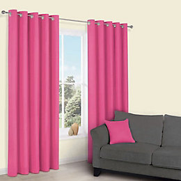Zen Bonbon Plain Eyelet Curtains (W)167cm (L)228cm