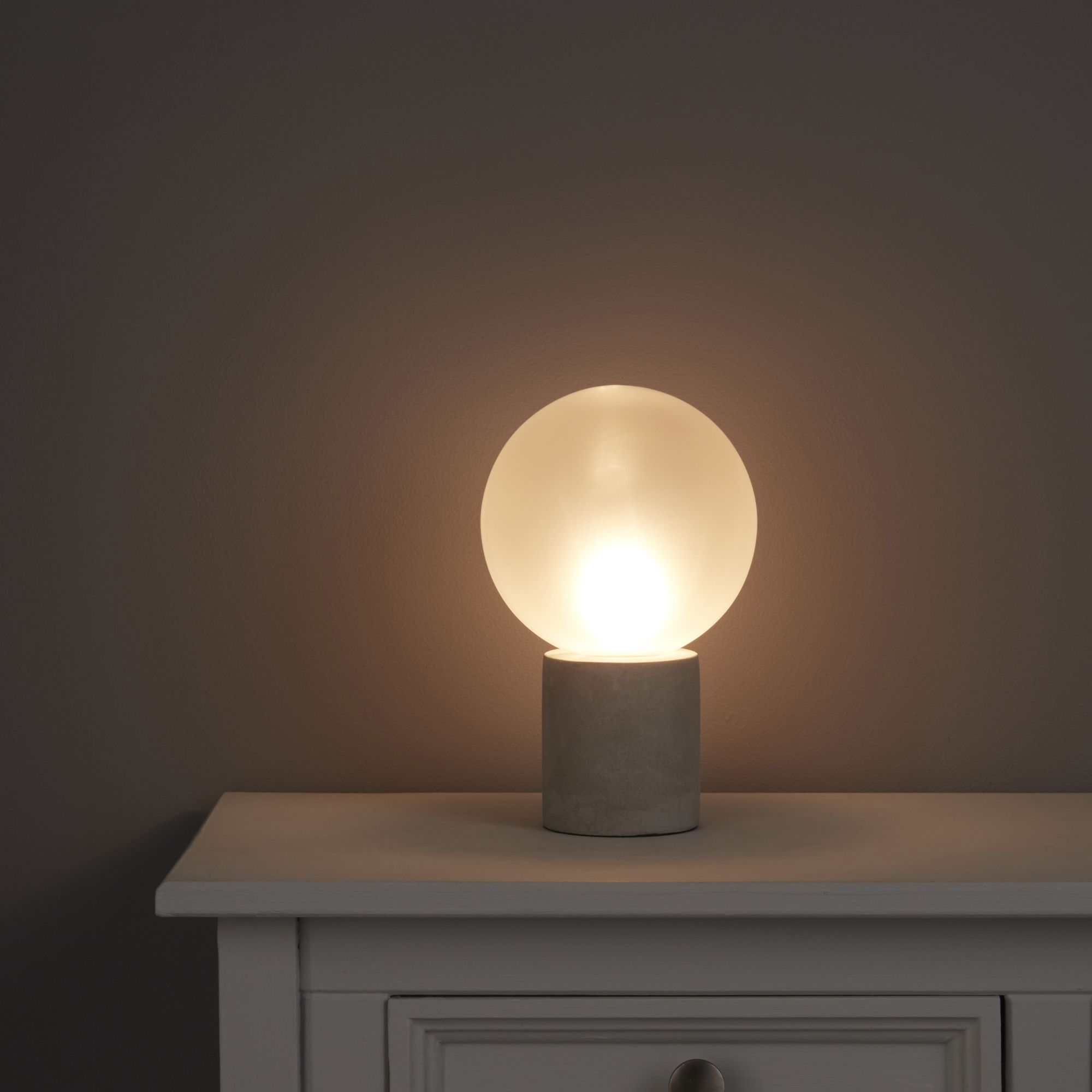Ariella Frosted White Concrete Table Lamp
