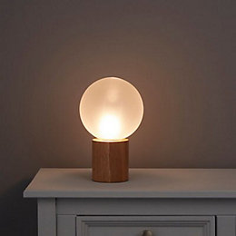 Adriana Frosted White Wooden Table Lamp