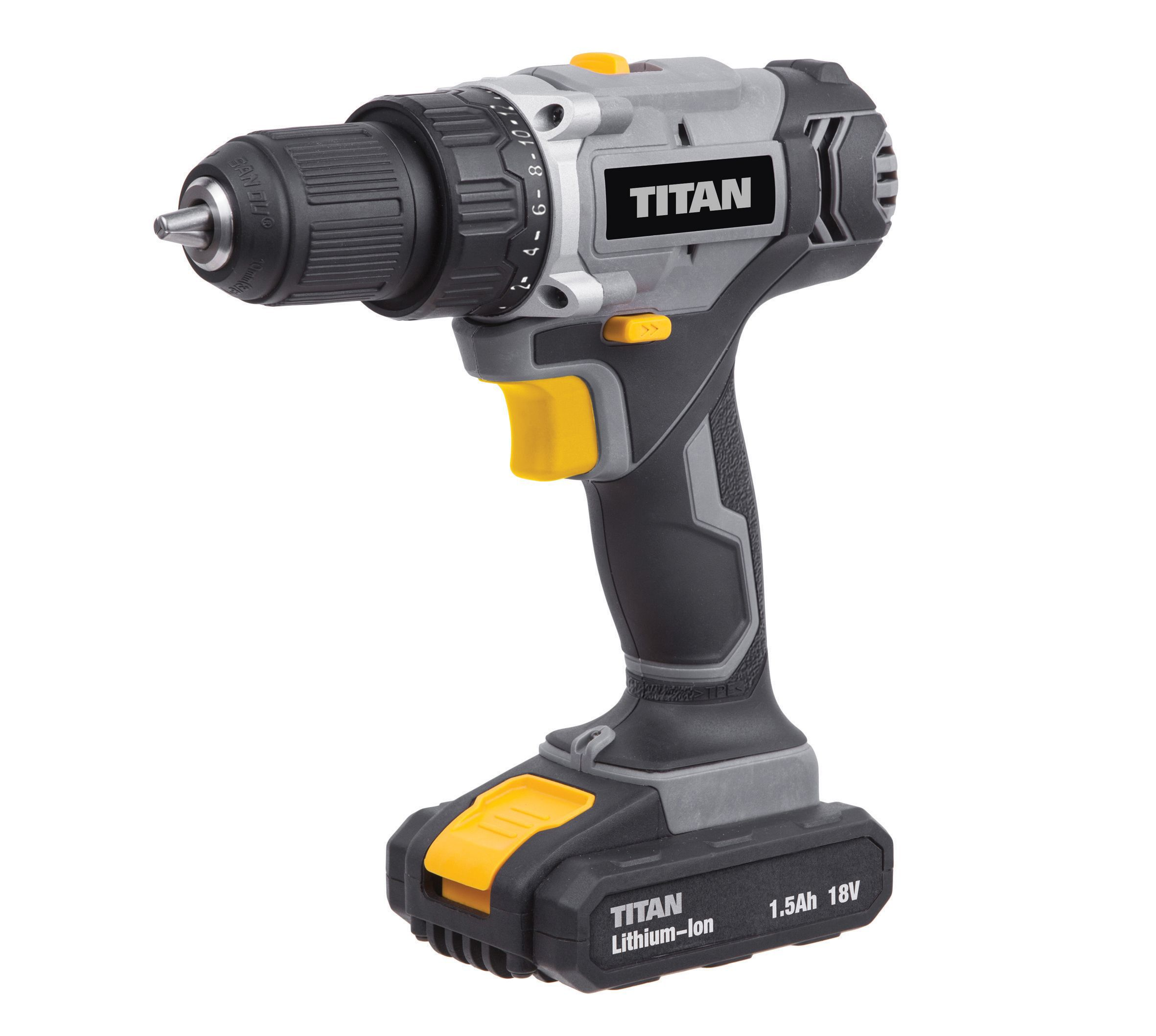 Titan Cordless 18v Li Ion Cordless Drill Driver 2