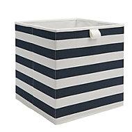Mixxit Navy Cardboard & polyester Storage basket
