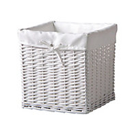 White 18L Willow Storage basket
