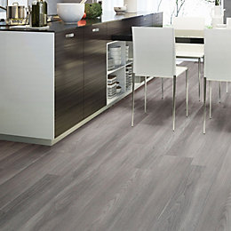 Colours Grey Natural oak effect Waterproof Luxury vinyl