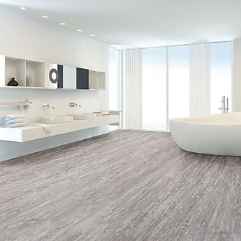 Grey Natural Stone-effect Waterproof Luxury Vinyl Click Flooring