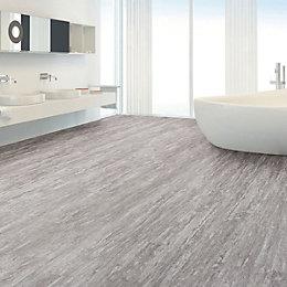 Grey Natural stone effect Waterproof Luxury vinyl click