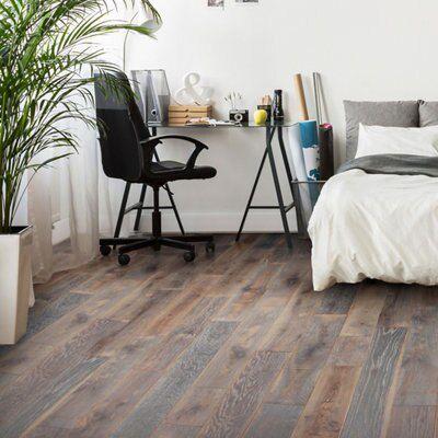 Colours Soren Natural Solid oak flooring 1.48 m²