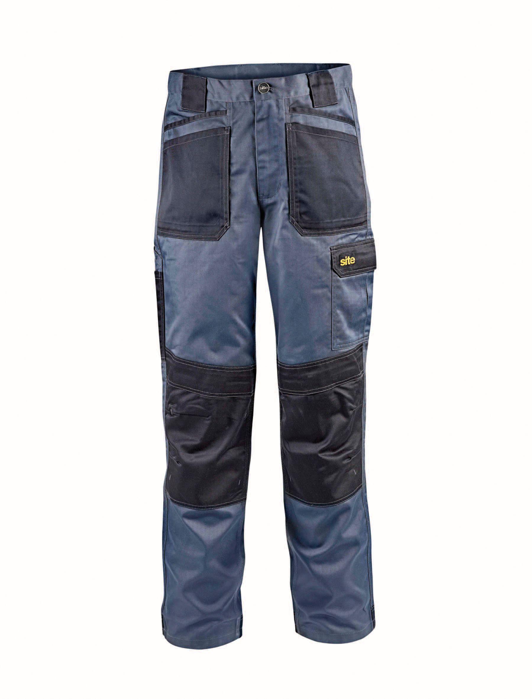 Site Grey Work Trousers W38 L32